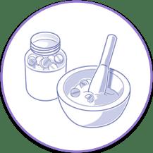 triturar pastillas para nutrición por sonda
